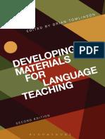 E Book Developing Materials for Language Teaching Brian Tomlison 2013 Pdf.pdf