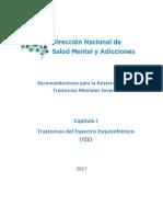 Propuestas Programa Medico Obligatorio de Direccion Nacional de Salud Mental y Adicciones, Argentina 2017