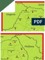 Harta Romaniei Plansa 4xA4