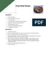 Recipe Market List
