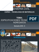 ESPECIFICACIONES TECNICAS DE LOS AGREGADOS