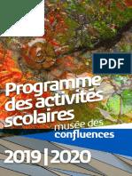 Programmation Scolaire 2019 2020 Musée des Confluences