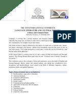 CFP Craiova LLCP Conference 2019