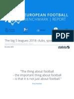 Statista European Football Benchmark 2018 Summary Report
