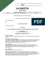 Ley 290 Organizacion Competencia y Procedimiento Del Poder Ejecutivo
