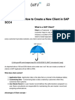 New Client Creation in SAP