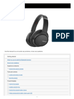 Sony Headphone Manual
