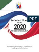 Tech Notes 2020 PH Budget