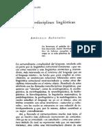 Interdisciplinas linguisticas