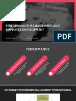 Performance Management & Employee Development