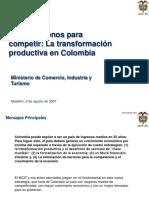 Presentacion Colombia Compite Transformacion Productiva