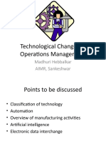Technological Changes in Operations Management- N