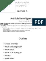 AI Lecture 1