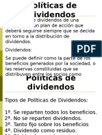 Exposicion Politicas de Dividendos
