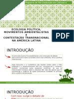 Ecologia Política, Movimentos Ambientalistas e