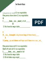 Vegetables _ Lyrics _ Downbeats _ Sections