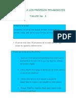 Taller Unidad 3 Inducción a Procesos Pedagógicos
