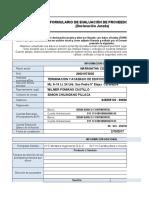 Formulario de Evaluación (Declaración Jurada)