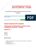 Administration and Management in Criminal Justice 2nd Edition by Jennifer M. – Test Bank