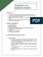 Experiencia Informe FinalDIVISOR de TENSION