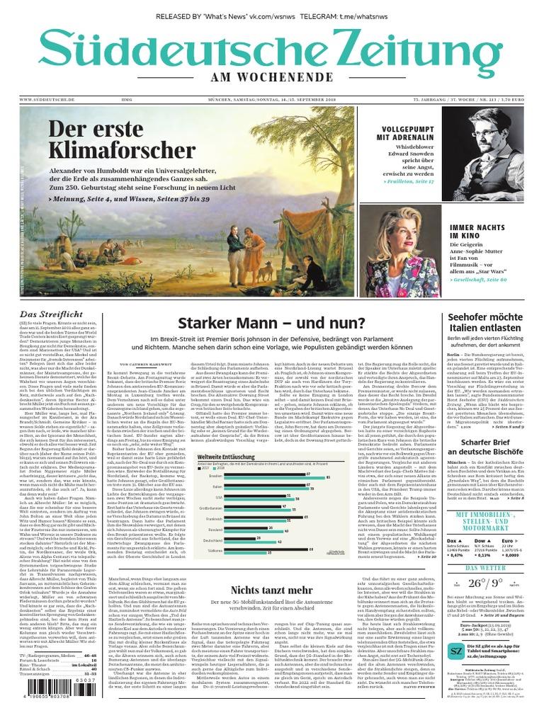 Süddeutsche Zeitung 2019.09.14 15