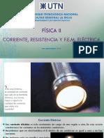 04-Corriente Resistencia y Fem Electrica-FisicaII-2009