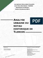 Analyse Urbaine Du Noyau Historique de Tlemcen