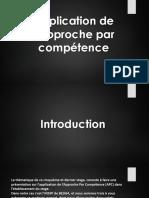 Application de l'Approche Par Compétence 10