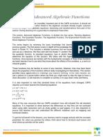Maths 11-2 a Guide to Advanced Algebraic Functions
