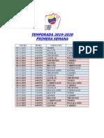 Calendario Lvbp 19-20