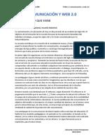 Comunicación y educación UNED Tema 1. Comunicación y Web 2.0