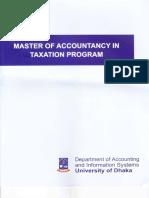 Master of Accountancy Program