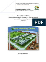 Parque Industrial Pucallpa Pip 01.03.16