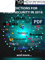 Predictions for Cyber Security in 2016