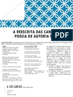A Reescrita Das Cantigas Na Poesia de Autoria
