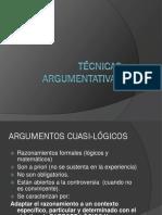 TÉCNICAS ARGUMENTATIVAS-Argumentos Cuasilógicos Ok