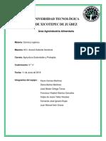 Área Agroindustria Alimentari Reporte de Titulacion