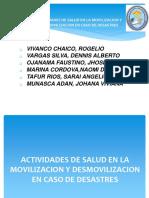 Actividades de Salud en La Movilizacion y Desmovilizacion (1)