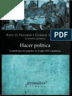 Fradkin Raúl_ La Participación Política Popular en El Litoral Rioplatense Durante El Siglo XIX