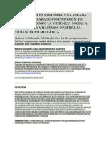 Ensayo de La Violencia en Colombia