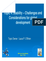 Stability – Challenges and Considerations