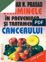 Kedar N. Prasad - VITAMINELE in Prevenirea Si Tratamentul CANCERULUI 1994 - 128 Pag