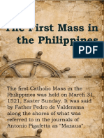 The First Mass in the Philippines