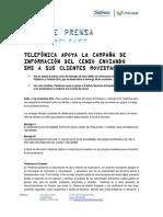 Telefónica apoya la campaña de información del Censo 2010, enviando SMS a sus clientes Movistar