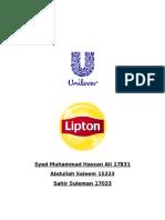 Lipton project