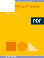 (IOP Concise Physics) Liengme, Bernard v - Excel VBA for Physicists a Primer-IOP Publishing (2016)