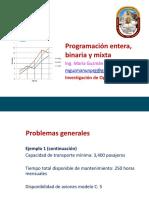 Semana 05 - Programaciòn Lineal Entera - Binaria y Mixta - UNPRG