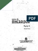Notas de Mineralogía II