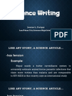 Science Writing- UPDATED