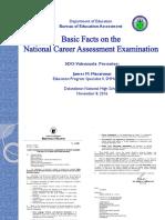 1- 2016 NCAE Basic Facts